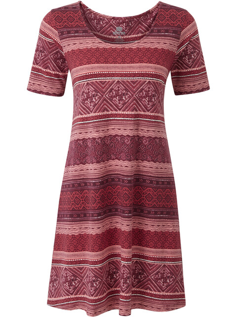 Sherpa Kira Swing - Vestidos y faldas Mujer - rojo/Multicolor